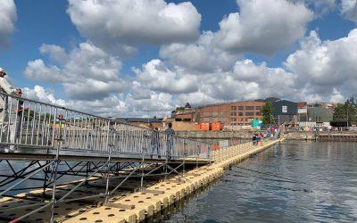 Brückenschlag in Lübeck