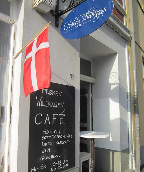 Lübeck. Café Froken Wildhagen.