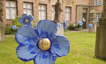 Blütenmeer der Sehnsüchte im Puppenhof des St. Annen-Museums